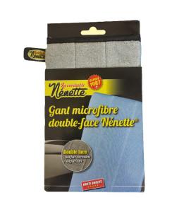 Gant microfibre fond blanc